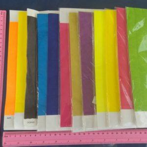 צמיד זיהוי | צמידים מנייר מצופה ניילון