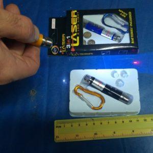 סמן לייזר | לייזר מחזיק מפתחות | בודק שטרות עם נורת אולטרה