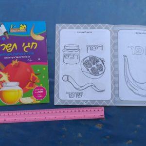 חוברת צביעה לראש השנה | חוברת יצירה לילדים | חגי תשרי