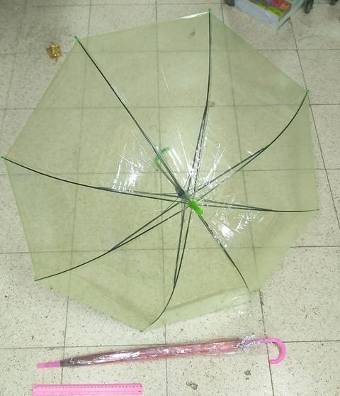 מטריות בצבע ירוק שקוף | מטרייה שקוף 21 אינצ'