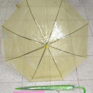 מטריות בצבע צהוב שקוף | מטרייה שקוף 21 אינצ'