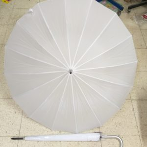 מטרייה לבנה | מטרייה ענקית 16 שיחים | מטרייה 24 אינצ' חזקה