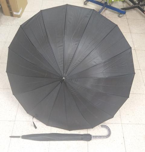מטרייה שחורה | מטרייה ענקית 16 שיחים | מטרייה גדולה 24 אינצ' חזקה
