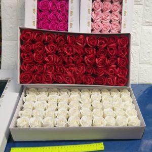 פרחי סבון בקופסא | מארז פרחי סבון | פרחי סבון קטנים