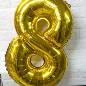 """בלון מספר   בלונים צבע זהב 26 אינצ' כ75 ס""""מ"""
