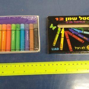 צבע פסטל שמן | צבעי פסטל שמן | צבעי פנדה צבעוני 12 צבעים