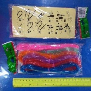 חוט ניילון | חוט ניילון חלול נוצץ | סקובידו | חוט לצמידים 10 מטר