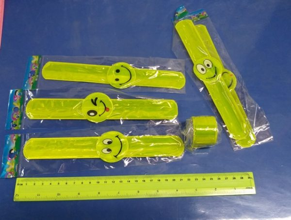 צמיד זיהוי סמיילי | צמיד זוהר מתקפל | צמיד סרגל