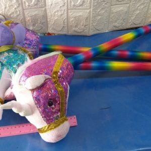 ראש סוס על מקל | חד קרן על מקל | צעצוע רכיבה