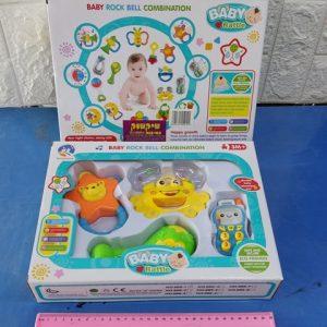סט רעשנים גדול לתינוק | רעשנים לתינוקות | צעצועי תינוקות על סוללות