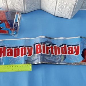 כרזה ליום הולדת | כרזות HAPPY BIRTHDAY ( ספיידרמן ) | שלט קישוט