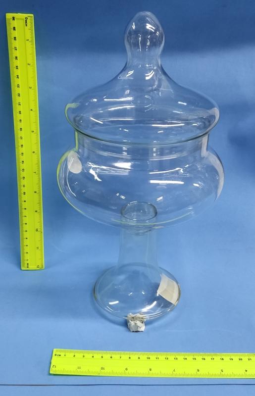 """קערה לעיצוב   בונבוניירה על רגל פלסטיק שקוף   גובה 32 ס""""מ קוד 18301"""