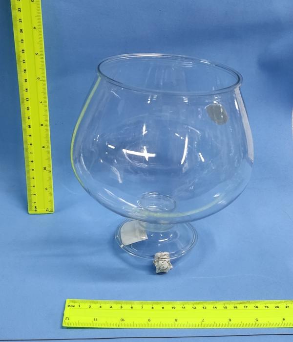 """קערה לעיצוב   גביע שמפניה כוס פלסטיק שקוף   גובה 18 ס""""מ קוד 12603"""