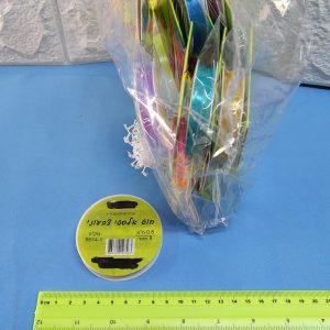 חוט אלסטי צבעוני | חוט דייג לחרוזים וצמידים | חוט סיליקון