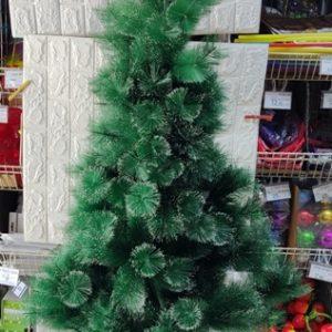 עץ חג המולד | עץ כריסמס | עץ אשוח 2.1 מטר עם קצוות שלג צבועים