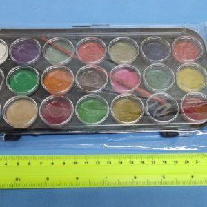 צבעי מים | צבעים 21 גוונים בקופסה פלסטיק